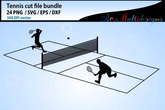 Tennis Svg Silhouette Bundle Graphic By Arcs Multidesigns Image 3