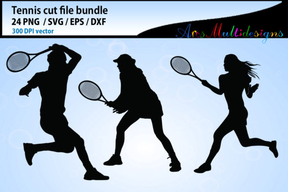 Tennis Svg Silhouette Bundle Graphic By Arcs Multidesigns Image 4