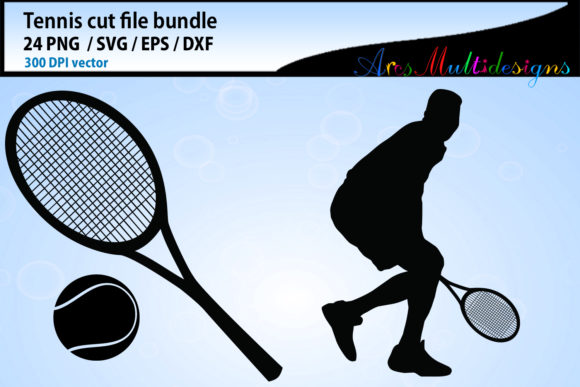 Tennis Svg Silhouette Bundle Graphic By Arcs Multidesigns Image 5