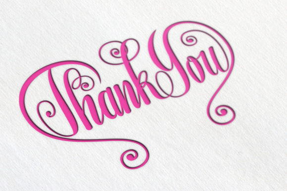 Thank You Butterfly Lettering SVG Graphic By Royaltype Image 2