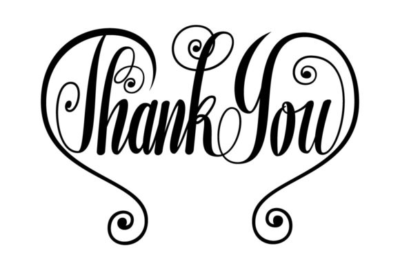 Thank You Butterfly Lettering SVG Graphic By Royaltype Image 1
