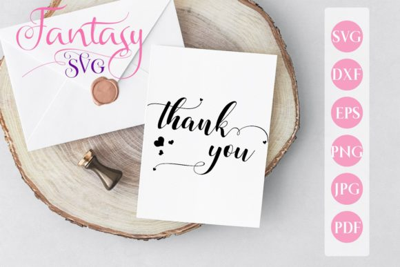 Print on Demand: Thank You Graphic Crafts By Fantasy SVG