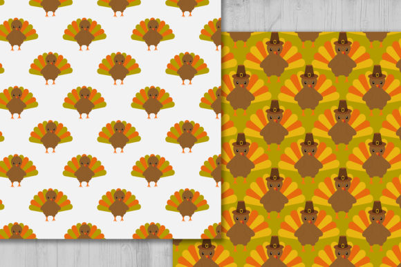 Download Free Thanksgiving Turkey Digital Paper Graphic By Cosmosfineart SVG Cut Files