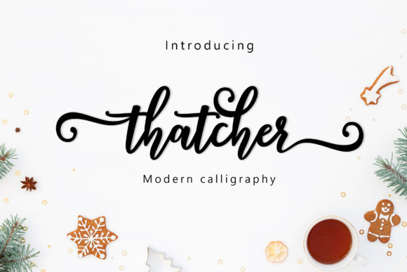 Print on Demand: Thatcher Script Script & Handwritten Font By Amarlettering