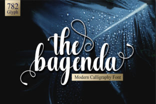 Print on Demand: The Bagenda Script & Handwritten Font By Imun Studio