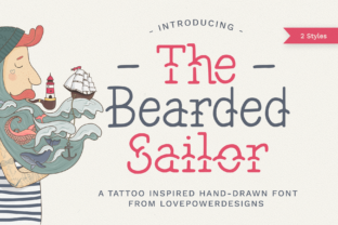 The Bearded Sailor Font By LovePowerDesigns
