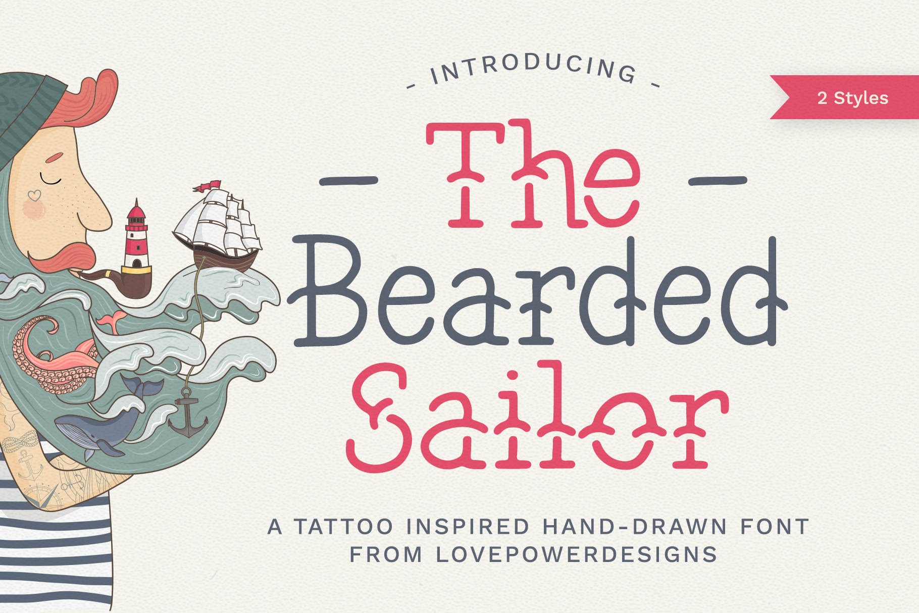 Download Free The Bearded Sailor Font By Lovepowerdesigns Creative Fabrica for Cricut Explore, Silhouette and other cutting machines.