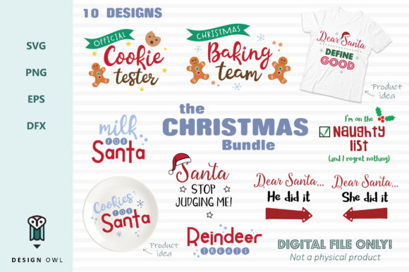 The Christmas Bundle  Graphic Crafts By Design Owl