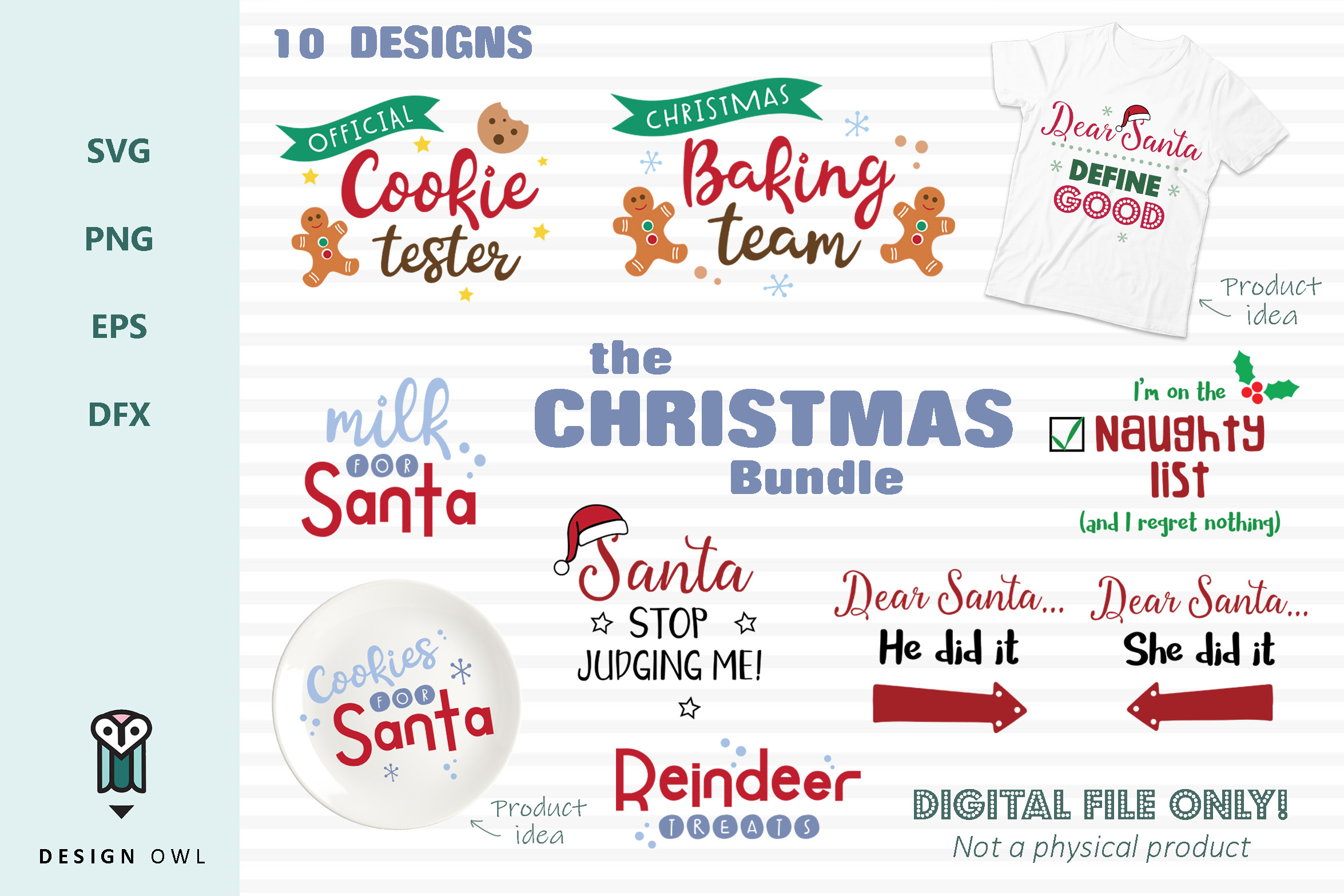 Download Free The Christmas Bundle Graphic By Design Owl Creative Fabrica for Cricut Explore, Silhouette and other cutting machines.