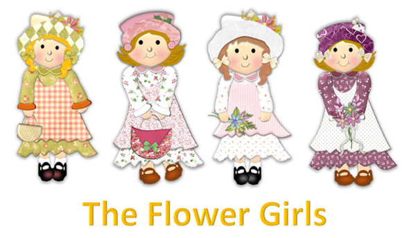 Print on Demand: The Flower Girls Graphic Illustrations By The Paper Princess