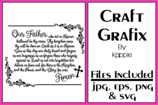 Download Free The Lords Prayer Graphic By Grafix By Kappie Creative Fabrica for Cricut Explore, Silhouette and other cutting machines.