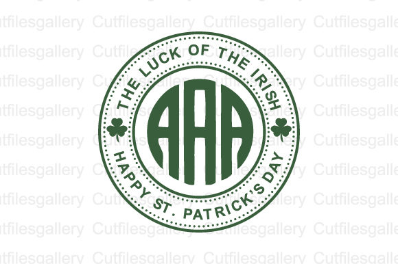 Download Free The Luck Of The Irish Monogram Svg Graphic By Cutfilesgallery for Cricut Explore, Silhouette and other cutting machines.