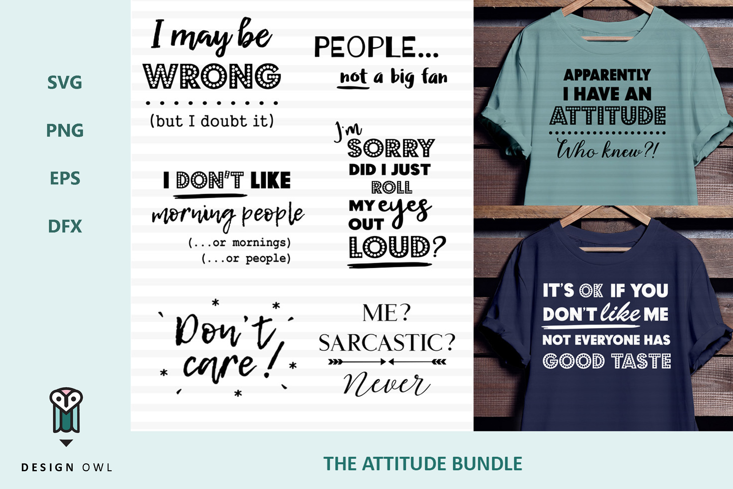 Download Free The Attitude Bundle Graphic By Design Owl Creative Fabrica for Cricut Explore, Silhouette and other cutting machines.