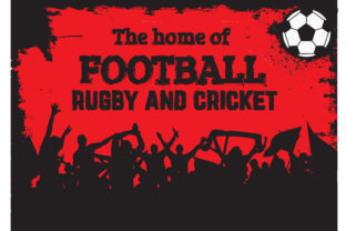 Download Free The Home Of Football Rugby And Cricket Graphic By Baraeiji for Cricut Explore, Silhouette and other cutting machines.