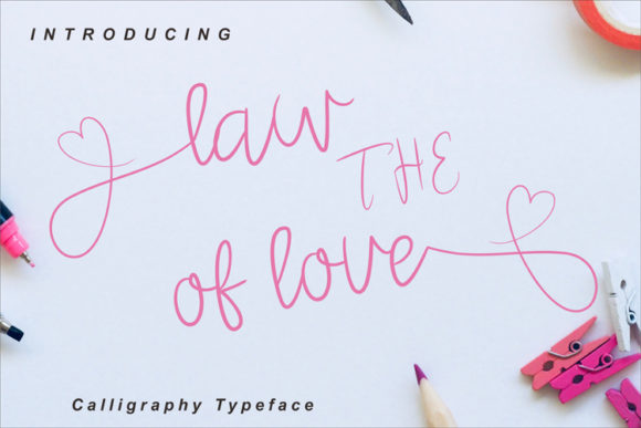 Print on Demand: The Law of Love Script & Handwritten Font By ed.creative