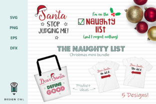 Download Free The Naughty List Christmas Bundle Graphic By Design Owl for Cricut Explore, Silhouette and other cutting machines.
