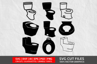 Toilet Commode SVG Graphic By Design Palace