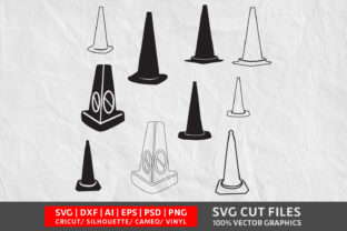 Traffic Cones SVG Graphic By Design Palace