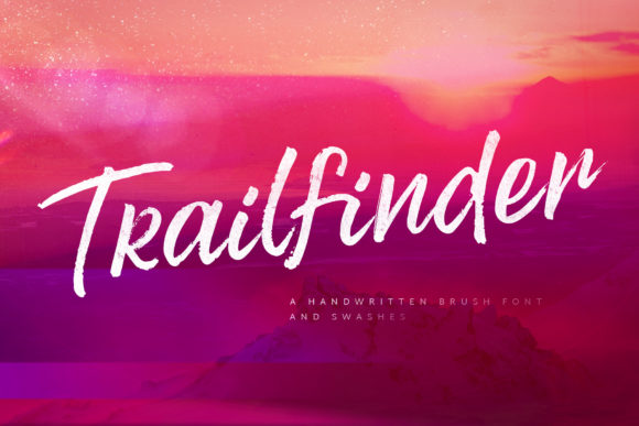 Print on Demand: Trailfinder Script & Handwritten Font By Ayca Atalay