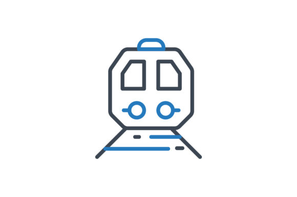 Download Free Train Icon Graphic By Rudezstudio Creative Fabrica for Cricut Explore, Silhouette and other cutting machines.