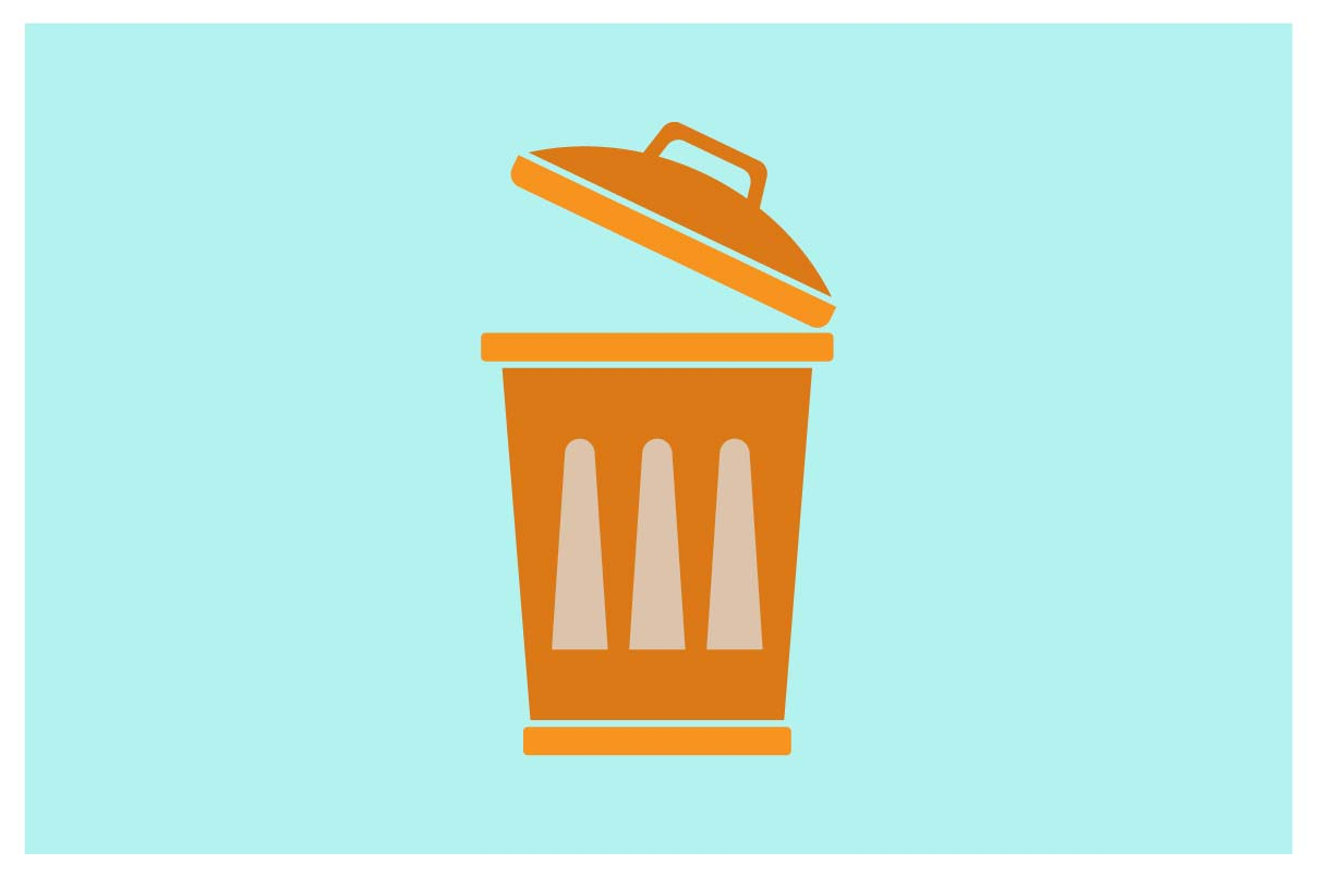 Download Free Trash Can Icon Vector Graphic By Hoeda80 Creative Fabrica for Cricut Explore, Silhouette and other cutting machines.