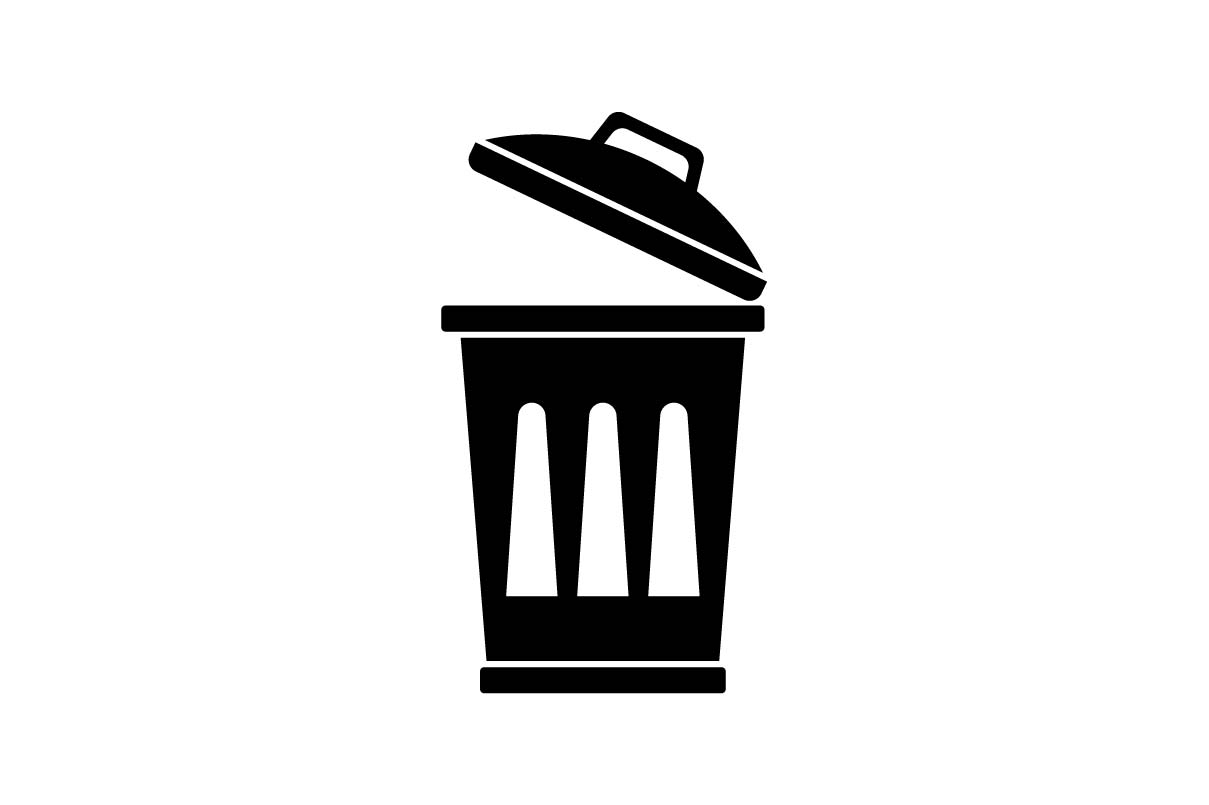 Download Free Trash Can Icon Vector Eps 10 Graphic By Hoeda80 Creative Fabrica for Cricut Explore, Silhouette and other cutting machines.