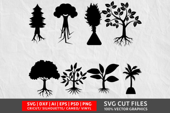 Tree SVG Graphic By Design Palace Image 1