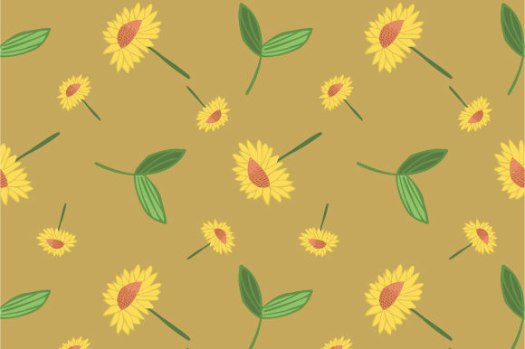 Print on Demand: Trendy Floral Pattern in the Blooming Botanical Graphic Patterns By iop_micro