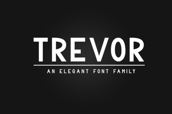 Print on Demand: Trevor Family Sans Serif Font By dmletter31