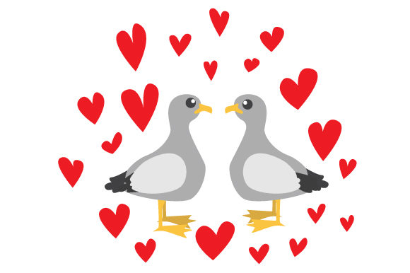 Download Free Cute Seagulls In Love Svg Cut File By Creative Fabrica Crafts Creative Fabrica for Cricut Explore, Silhouette and other cutting machines.