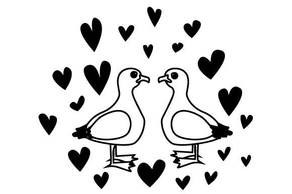 Download Free Cute Seagulls In Love Archivos De Corte Svg Por Creative Fabrica for Cricut Explore, Silhouette and other cutting machines.