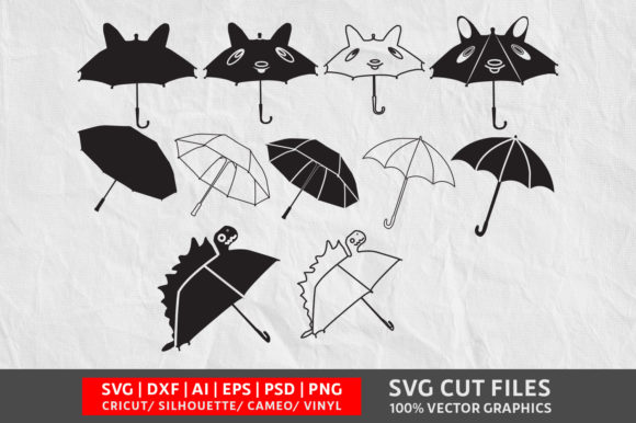 Download Free Umbrella Graphic By Design Palace Creative Fabrica for Cricut Explore, Silhouette and other cutting machines.