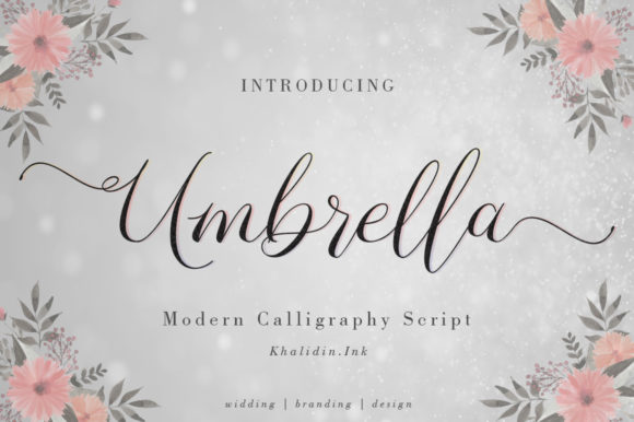 Print on Demand: Umbrella Script Script & Handwritten Font By Khalidin.Ink