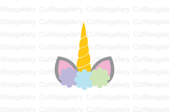 Download Free Unicorn Face Graphic By Cutfilesgallery Creative Fabrica for Cricut Explore, Silhouette and other cutting machines.