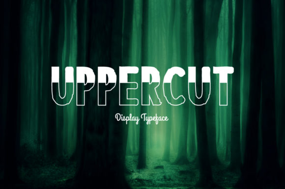 Print on Demand: Uppercut Display Font By Spanking Fonts - Image 1