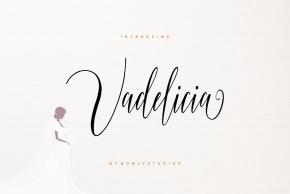 Print on Demand: Vadelicia Script Script & Handwritten Font By nowlystudios
