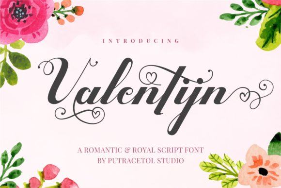 Print on Demand: Valentijn Script & Handwritten Font By putracetol