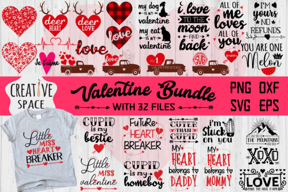 Download Free Valentine Bundle Graphic By Creativespace Creative Fabrica SVG Cut Files
