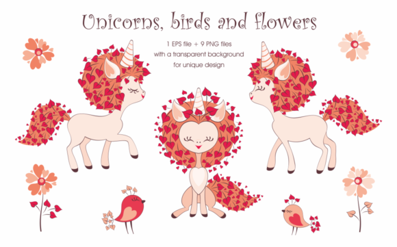 Print on Demand: Valentine Unicorn Graphic Illustrations By Olga Belova - Image 2