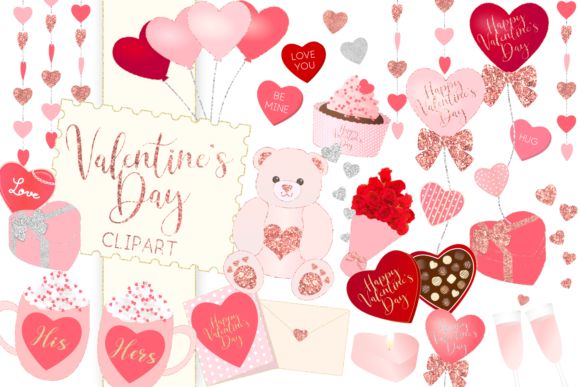 Print on Demand: Valentine's Day Clipart Graphic Illustrations By lilyuri0205