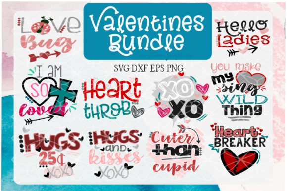 Valentines Day Quote Bundle Graphic Crafts By OneStoneGraphics