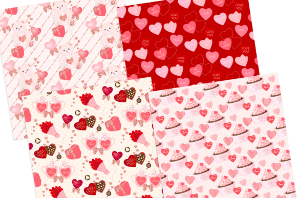 Print on Demand: Valentine's Day Seamless Pattern Digital Papers Graphic Patterns By lilyuri0205 - Image 3