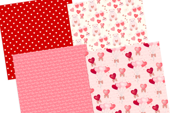 Print on Demand: Valentine's Day Seamless Pattern Digital Papers Graphic Patterns By lilyuri0205 - Image 4