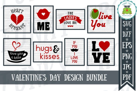 Download Free Valentine S Day Bundle Graphic By Funkyfrogcreativedesigns SVG Cut Files