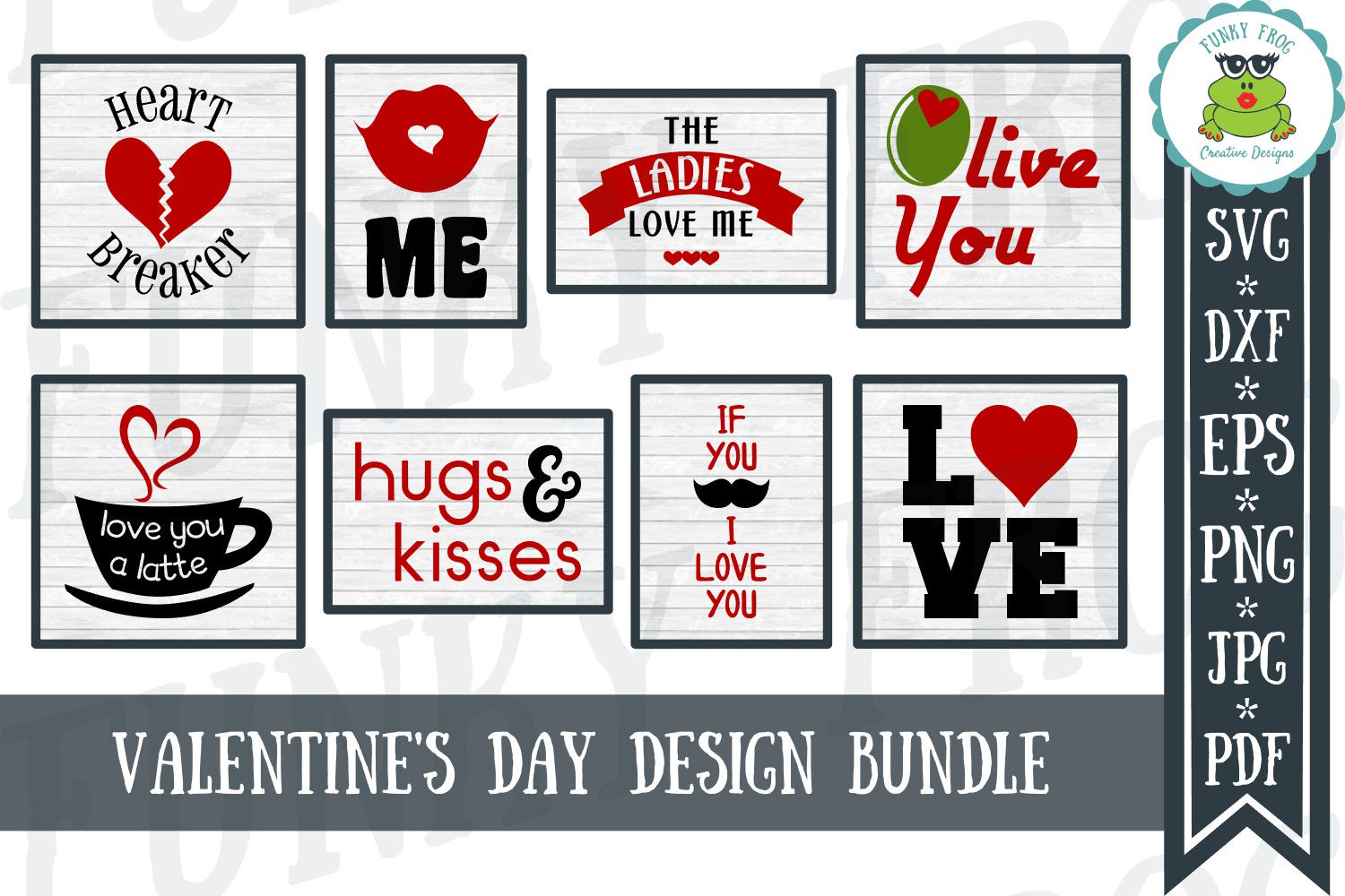 Download Free Valentine S Day Bundle Graphic By Funkyfrogcreativedesigns for Cricut Explore, Silhouette and other cutting machines.