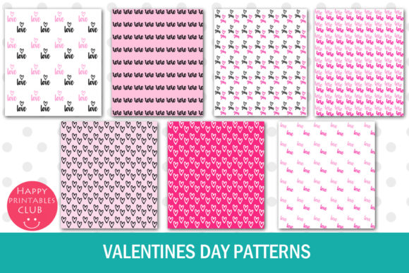 Print on Demand: Valentines Day Text Overlays Graphic Illustrations By Happy Printables Club - Image 5