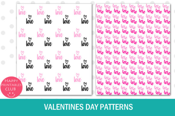 Print on Demand: Valentines Day Text Overlays Graphic Illustrations By Happy Printables Club - Image 6
