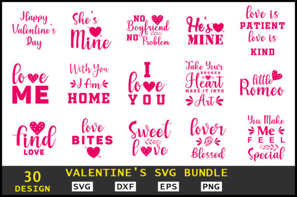 Valentine's SVG Bundle Graphic Crafts By Handmade studio