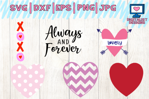Download Free Valentine S Bundle Graphic By Digitalistdesigns Creative Fabrica for Cricut Explore, Silhouette and other cutting machines.