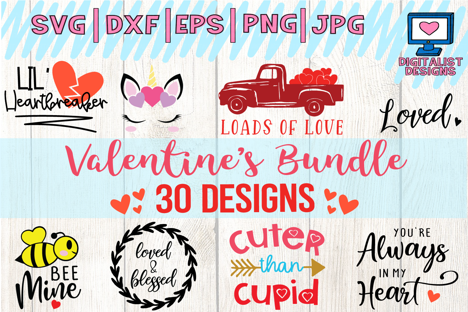 Download Free Valentine S Bundle Graphic By Digitalistdesigns Creative Fabrica SVG Cut Files